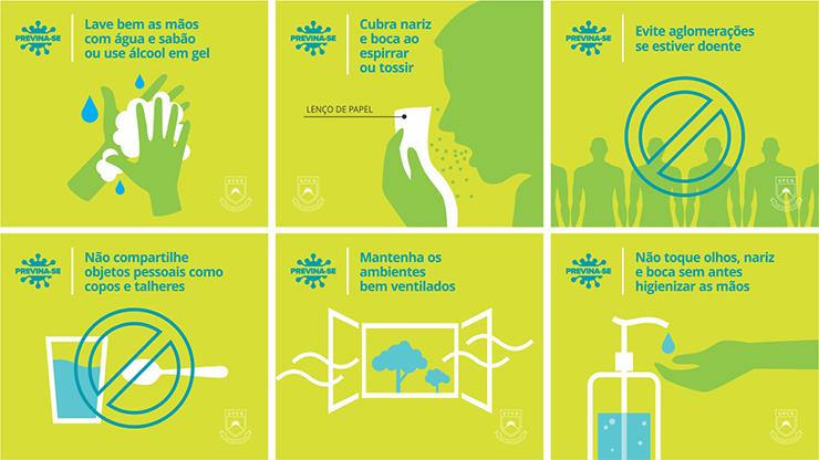 Orientações de prevenção ao Corona Vírus